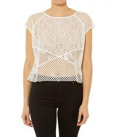 California Dreaming - Spliced Mesh Shell Top - Clothing - Sportsgirl
