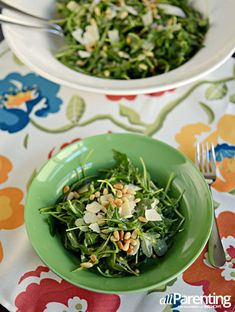 Arugula #salad with pine nuts, parmesan and Champagne #vinaigrette