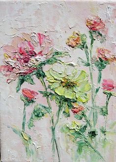 Rose Painting oil original oil painting  5x7