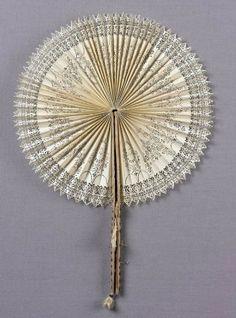 Circular cut fan        French, 18th century