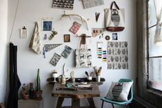 Amelie Mancini: Brooklyn-based French artist Bed Stuy studio with her printed designs