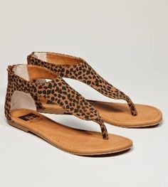 leapord sandals