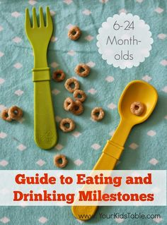 Your ultimate to guide to feeding milestones for babies and toddlers, month-by-month from a pediatric occupational therapist and mom.
