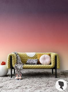 Home Decor // Interior design // sunset wall paper - barn and willow