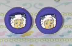 Lamb Stud Earrings 7mm Polymer Clay Earrings With by DIYArtMart