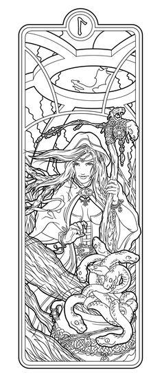 Helheim Sorceress lines by deviantAshtareth on deviantART