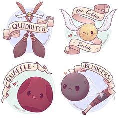Quidditch, the golden snitch, quaffle, and bludger!