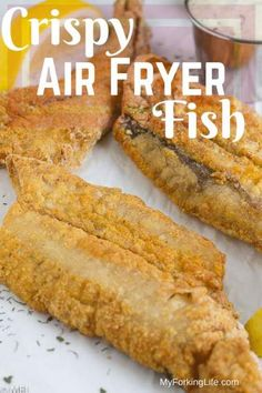 This Crispy Air Fryer Fish Recipe is delicious and healthy. Tried and true metho… This Crispy Air Fryer Fish Recipe is delicious and healthy. Tried and true method for golden and crispy fish filets in the air fryer. Air Fryer Recipes Wings, Air Fryer Recipes Appetizers, Air Fryer Recipes Low Carb, Air Fryer Recipes Breakfast, Air Fry Recipes, Air Fryer Dinner Recipes, Easy Recipes, Power Air Fryer Recipes, Breakfast Cooking