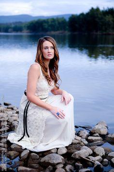 Gown Stones River Beauty Danimezza Photography