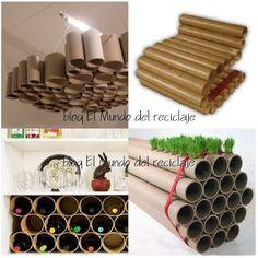 EL MUNDO DEL RECICLAJE: Un tubo de cartón