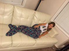 🐳 👸🏼  🐳 Crochetar Sereia Cobertor Sereia cauda torcida Fios -  /  🐳 👸🏼 🐳 Crocheted Mermaid Blanket twisted tail Mermaid Yarn -