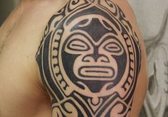 Unique Tribal Tattoo on Sleeve: Aztec Tribal Tattoo Design On Sleeve ~ Cvcaz Tattoo Art Ideas ~ Sleeve Tattoos Inspiration