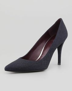 Daisy Pointy-Toe Pump, Navy by Stuart Weitzman at Neiman Marcus. $340