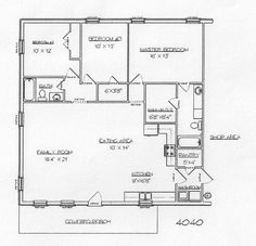 40x40 floor plans | Pole barn home plans | Pinterest | House, Barn ...