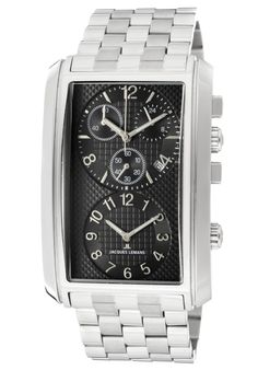 Click Image Above To Purchase: Jacques Lemans Men's Format Chronograph Watch Bulova, Seiko, Gentleman's Wardrobe, Calendar Date, Tag Heuer, Crystals Minerals, Watches Online, Le Mans, Stainless Steel Bracelet