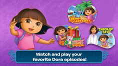 Dora Appisodes HD: Watch a few full-length episodes of Dora the Explorer with tons of interactive elements