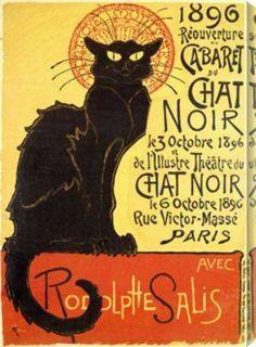Art Nouveau Poster- Cabaret du Chat Noir by Art nouveau and deco