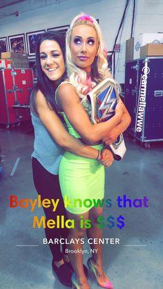 Bayley and Carmella! Wrestling Divas, Women's Wrestling, Pamela Martinez, Carmella Wwe, Becky Wwe, Wrestlemania 29, Wwe Sasha Banks, Wwe Pictures, Paige Wwe