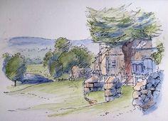 Bolton Abbey, Yorkshire Dales -Sketch