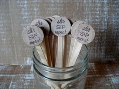 Wooden+Drink+Stirrers+Personalized+for+by+dazzlingexpressions,+$15.00