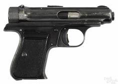 J. P. Sauer model 1913 semi-automatic pistol, 7.65 mm, with a 3'' barrel. Serial #209311. C & R - Price Estimate: $200 - $400
