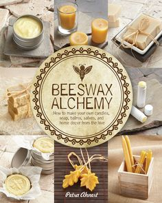 I wrote a book! Beeswax Alchemy - How to Make Your Own Soap, Candles, Balms, Creams, and Salves from the Hive This is a DIY recipe book of everything Beeswax. From candles to body care product to art related projects. I cover it all. The book will be av Lotion Bars, Diy Lotion, Soap Recipes, Beeswax Recipes, Diy Candles, Homemade Candles, Homemade Baileys, Taper Candles, Scented Candles