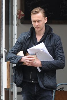Tom Hiddleston seen at a cafe in North London on June 10, 2013