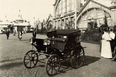 Russia's first car, seen here in 1897, had rubber tyres on wooden wheels, and had a top speed of 13mph
