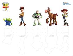 Toy Story Character Toys Printable 0410