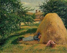 The Siesta, Eragny - Camille Pissarro