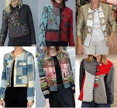 Chaqueta abrigo patchwork