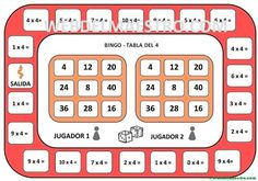 game board table of spelbord tafel van game board table of - Teaching Math, Maths, Table Games, Bingo, Cute Stickers, Calculator, Board Games, Boards, Pdf