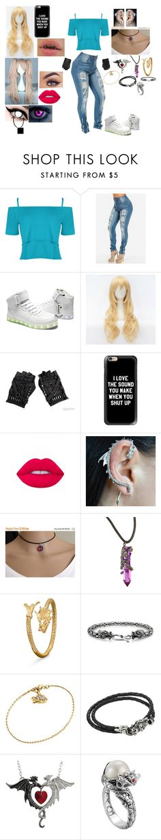 """""""End dragon slayer"""" by mcprincess33 ❤ liked on Polyvore featuring WearAll, Casetify, Lime Crime, BillyTheTree, Bling Jewelry, John Hardy and King Baby Studio"""