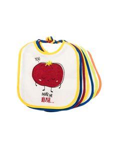 Pack 7 babetes da ZY Baby com fita. Muito leves e resistentes. Mantém o bebé seco , limpo e protege-o de manchas não desejadas na roupa.