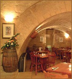 La Cave - 400 year old Wine Cellar and Pizzeria, Valletta, Malta.