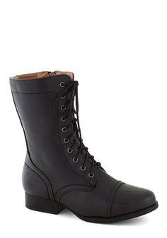 Barn Brunch Boot in Black, #ModCloth hmmmm... shorter... but so cute!