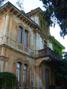 An abandoned villa near the Lake Maggiore waterfront in Stresa, Italy.