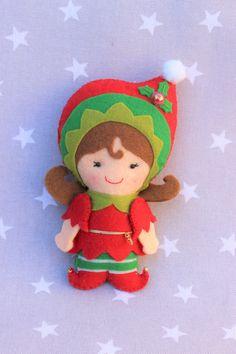 Elfa, adorno navidad, árbol