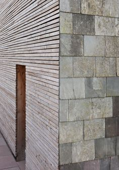 This statement in domestic sustainability by Feildon Fowles utilizes recycled Welsch cladding