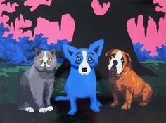 Blue Dog and Friends