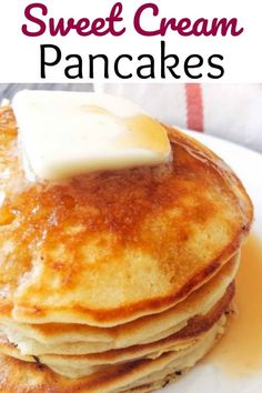 in Your Mouth Sweet Cream Pancakes Amazing Melt in Your Mouth Sweet Cream Pancakes is the best pancake recipe around and will be the only pancake recipe you ll ever need! Sweet and dreamy!Amazing Melt in Your Mouth Sweet Cream Pancakes is the best pancake Breakfast Pancakes, Pancakes And Waffles, Breakfast Dishes, Breakfast Recipes, Ricotta Pancakes, Mexican Breakfast, Sweet Breakfast, Breakfast Casserole, Breakfast Ideas