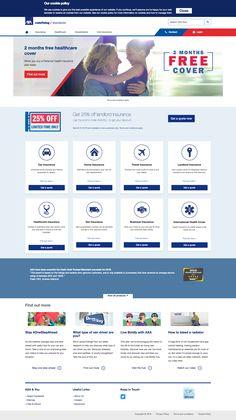 AXA insurance homepage