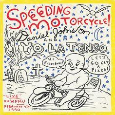 Daniel Johnston Speeding Motorcycle