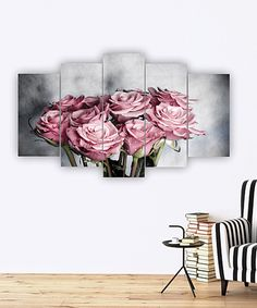 Take a look at this Rose Bouquet Five-Panel Wall Art today!