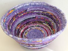 A personal favorite from my Etsy shop https://www.etsy.com/listing/228049259/fabric-pottery-coiled-fabric-bowl-shades