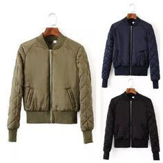 Thin Padded Bomber Jacket THE BLACK ONE DAD