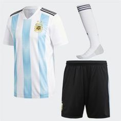 353c6377f 2018 World Cup Kit Argentina Home Replica Blue Full Suit 2018 World Cup Kit Argentina  Home Replica Blue Full Suit