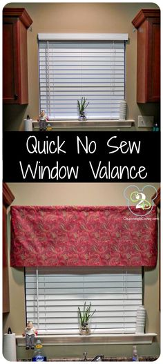 Curtain Ideas For Kitchen Window Easy DIY Curtains And Drapery Ideas. Curtain: Cute Interior Home Decorating Ideas With Cafe . Smart DIY Small Curtain Rods For Windows Decor Ideas. Window Valance, Diy Curtains, Rod Pocket Curtains, Windows, Sewing Design, Decorating On A Budget, Fabric Store