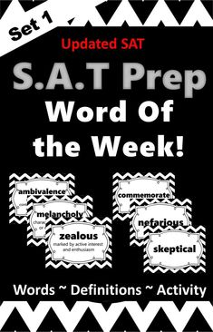 If you are looking for an easy way to help build vocabulary knowledge while preparing students for the New SAT test then try this 40 word Word of the Week complete set. Vocabulary Instruction, Vocabulary Building, Vocabulary Activities, Vocabulary Words, Middle School Writing, Middle School Teachers, Writing Strategies, Writing Ideas, School Resources