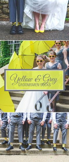 A yellow and grey wedding is a bright and colorful wedding palette that perfectly embodies the mood and atmosphere of a summer wedding day: happy. Showcasing the color yellow can be done in a variety of different ways, but we love when yellow adds a splash of color to the smallest details like bridesmaid shoes, shade umbrellas and especially socks. Some couples choose to dress groomsmen in one sock design and one color. For this wedding, the couple chose the bolder route with different…